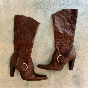 """Matisse """"Artie"""" Tall Brown Leather Heeled Boots"""